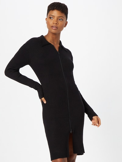Gina Tricot Knitted dress 'Elliana' in Black, View model