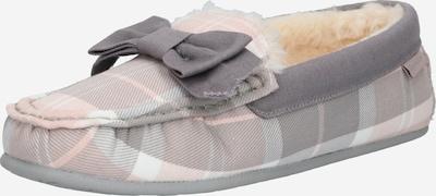 Barbour Hausschuh 'Barbour' in grau / mischfarben / pink: Frontalansicht