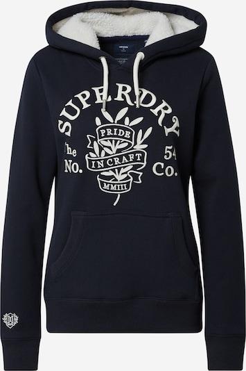 Superdry Sweatshirt 'PRIDE IN CRAFT' in Navy / White, Item view