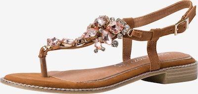 MARCO TOZZI by GUIDO MARIA KRETSCHMER T-Bar Sandals in Cognac / Mixed colors, Item view