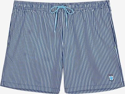 HOM Badeshorts 'Justin' in blau / gelb / weiß, Produktansicht