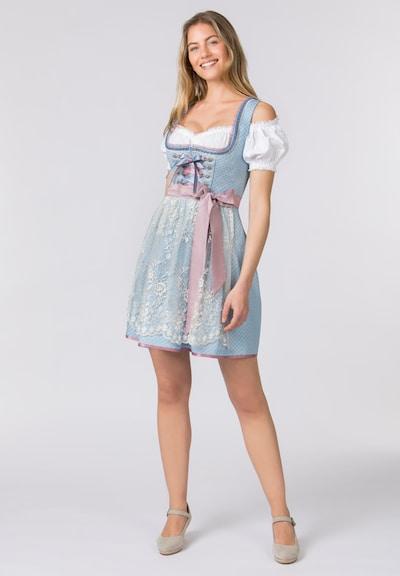 STOCKERPOINT Dirndl in de kleur Blauw / Rosa, Modelweergave