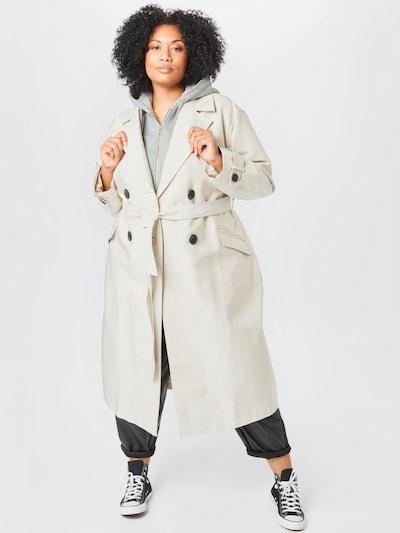 River Island Plus Mantel in beige / grau, Modelansicht