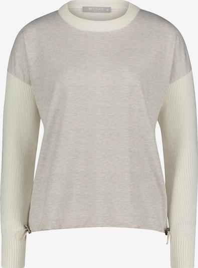 Betty & Co Sweatpullover mit Struktur in beige, Produktansicht