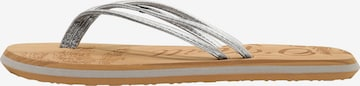 O'NEILL T-Bar Sandals 'Ditsy' in Silver