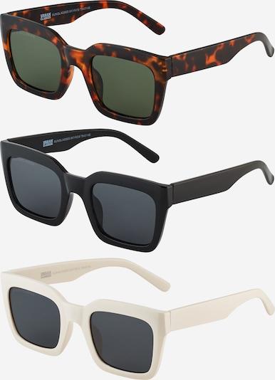 Urban Classics Sonnenbrille 'Skyros' in braun / schwarz / weiß, Produktansicht