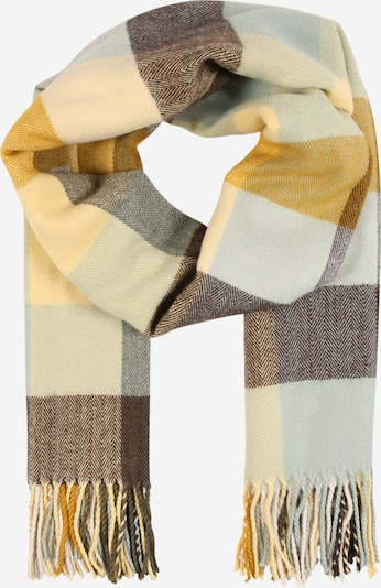 PIECES Scarf in light blue / brown / yellow, Item view