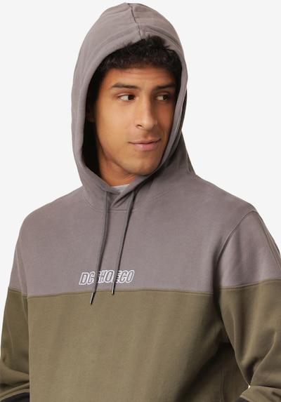 DC Shoes Sportsweatshirt in de kleur Stone grey / Kaki / Zwart / Wit, Productweergave