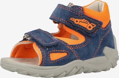 SUPERFIT Sandale in himmelblau / neonorange, Produktansicht