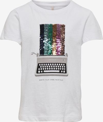 KIDS ONLY T-Shirt 'Collie' in mischfarben / weiß, Produktansicht