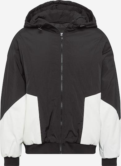 Urban Classics Curvy Prehodna jakna | črna / bela barva, Prikaz izdelka