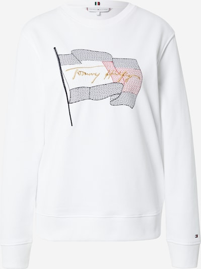 TOMMY HILFIGER Sweat-shirt en camel / bleu / rouge pastel / blanc, Vue avec produit