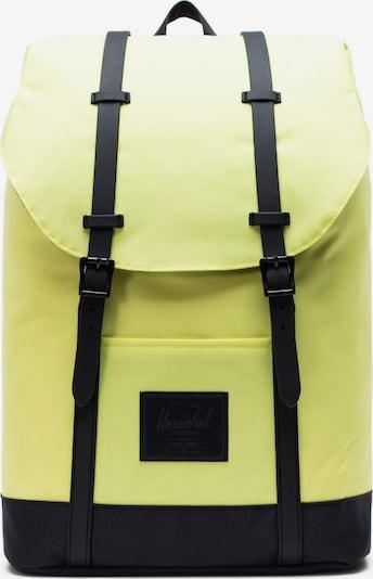 Herschel Mochila 'Retreat' en amarillo neón / negro, Vista del producto