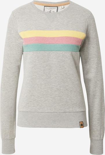 Fli Papigu Sweatshirt 'It is what it is' in Yellow / mottled grey / Mint / mottled pink, Item view