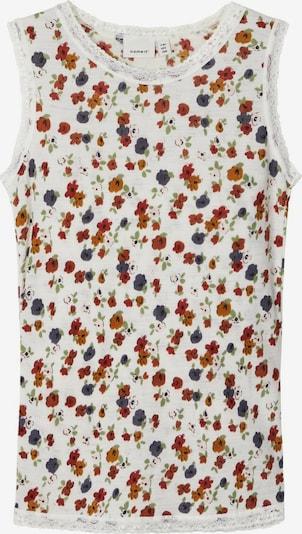 NAME IT Unterhemd in taubenblau / hellgrün / orange / rot / weiß, Produktansicht