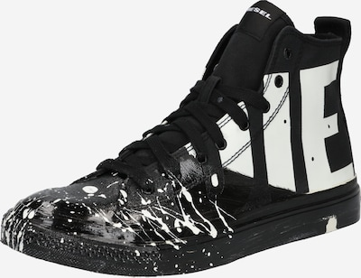 DIESEL Sneaker 'S-ASTICO' in schwarz / weiß, Produktansicht