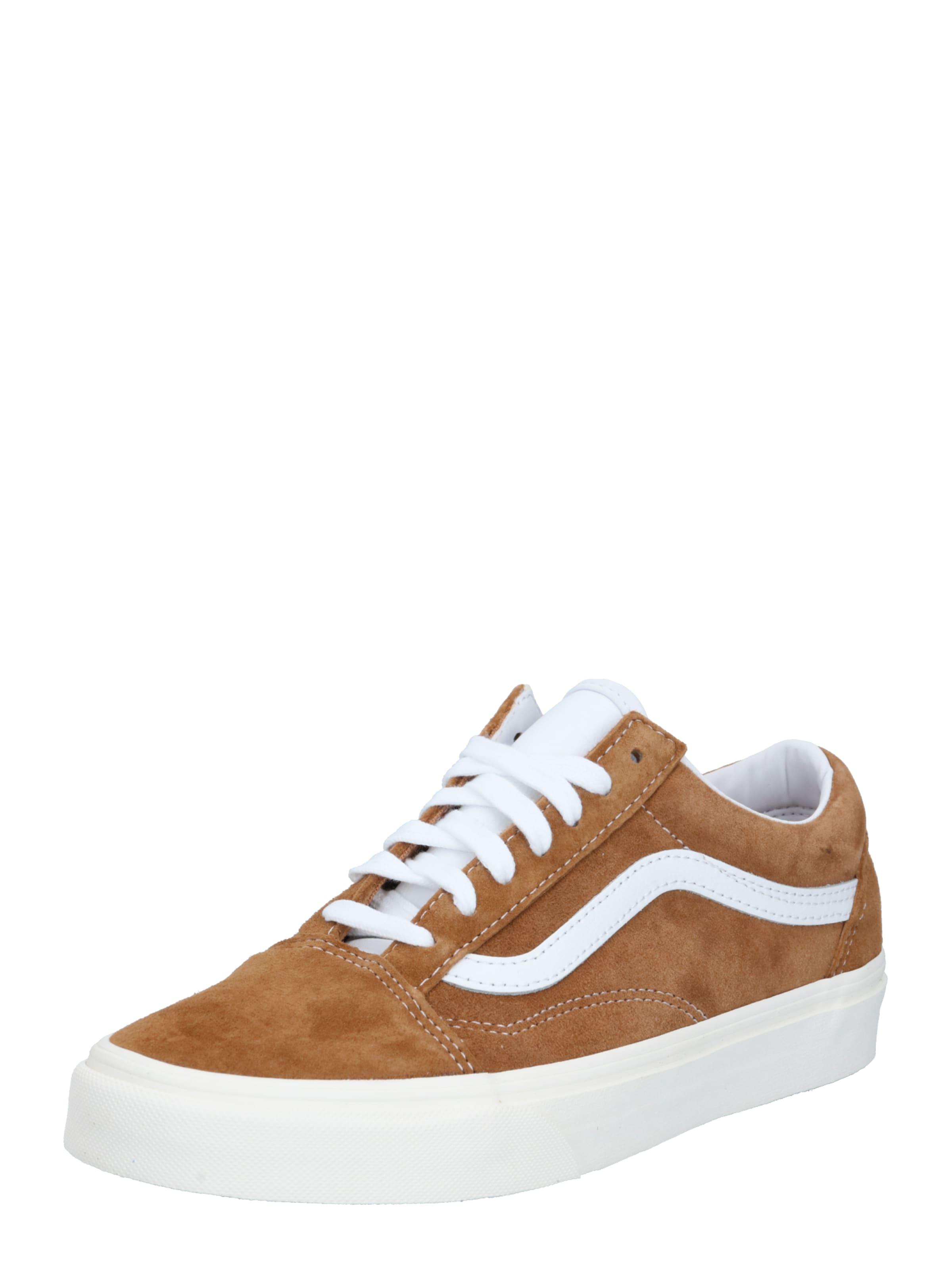 VANS Låg sneaker 'Old Skool' i brun / vit