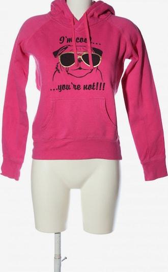 Fishbone Kapuzensweatshirt in S in gold / pink / schwarz, Produktansicht