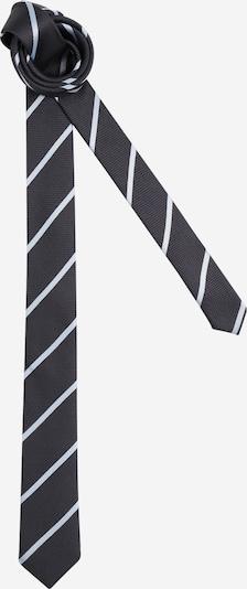 JACK & JONES Krawatte 'GRANT' in dunkelgrau / weiß, Produktansicht