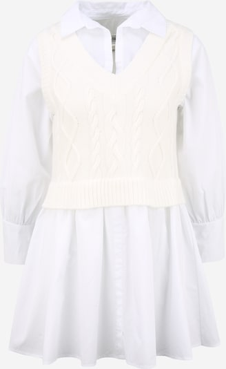 River Island Petite Robe-chemise en crème / blanc, Vue avec produit