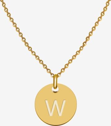 GOOD.designs Buchstabenkette 'W' in Gold
