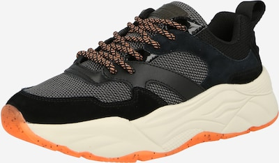 Sneaker low 'Celest' SCOTCH & SODA pe albastru noapte / gri deschis / portocaliu pastel / negru, Vizualizare produs