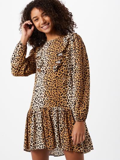Rochie 'FRIL' Miss Selfridge pe bej / maro / maro închis, Vizualizare model