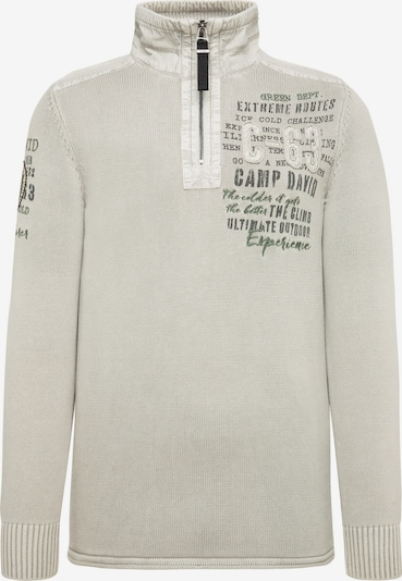 CAMP DAVID Pullover in weißmeliert, Produktansicht