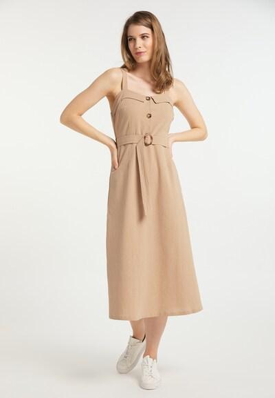 Usha Kleid in hellbeige, Modelansicht