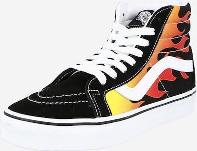 Sneaker înalt VANS pe galben / portocaliu / roșu / negru / alb: Privire frontală