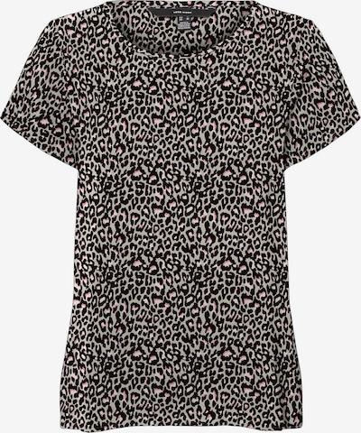 Vero Moda Petite Shirt 'Saga' in hellgrau / schwarz, Produktansicht