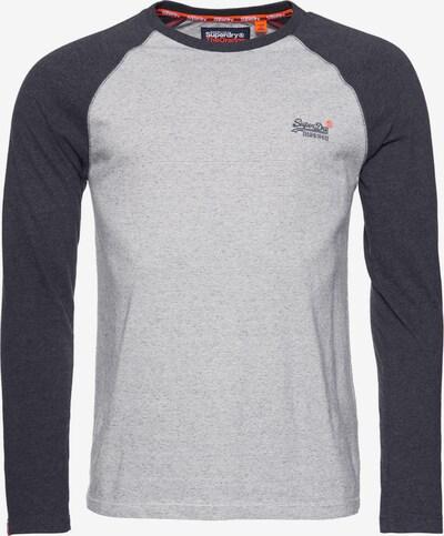 Superdry Shirt in de kleur Basaltgrijs / Lichtgrijs, Productweergave