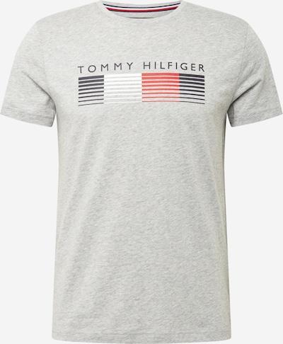 TOMMY HILFIGER T-Shirt in anthrazit / hellgrau / hellrot / weiß, Produktansicht