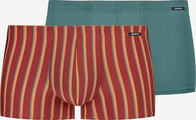 Skiny Boxershorts in petrol / orange / dunkelorange, Produktansicht