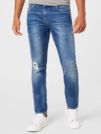 7 for all mankind Jeans 'RONNIE' in blue denim, Modelansicht