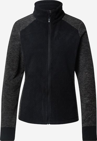 ROXY Sport-Sweatjacke in graumeliert / schwarz, Produktansicht