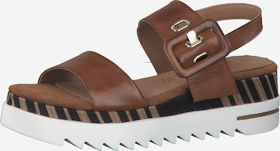 MARCO TOZZI by GUIDO MARIA KRETSCHMER Sandale in kastanienbraun / schwarz, Produktansicht
