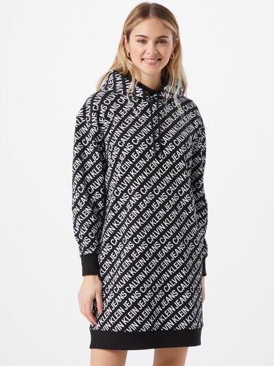 Calvin Klein Jeans Sweatkleid in schwarz / weiß, Modelansicht
