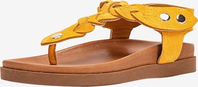 INUOVO Séparateur d'orteils en moutarde, Vue avec produit