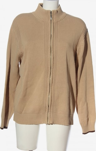 Basic Line Sweater & Cardigan in 4XL in Beige