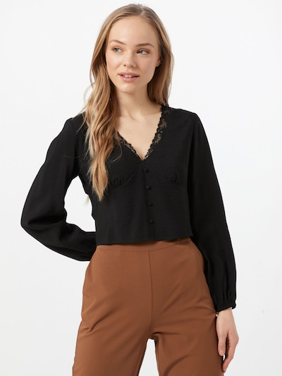 ABOUT YOU Pluus 'Mette Blouse' must, Modellivaade