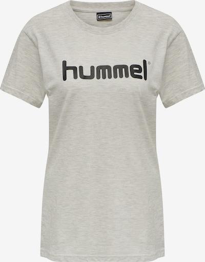 Hummel T-shirt fonctionnel en noir / blanc chiné, Vue avec produit