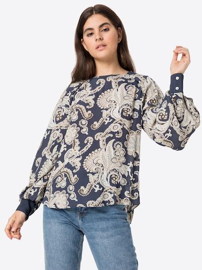 Bluză 'Urika Persia' MOS MOSH pe bej / bleumarin, Vizualizare model