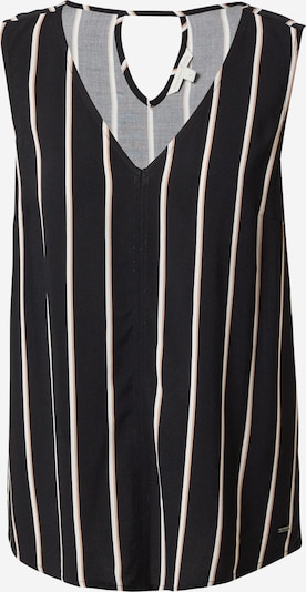 TOM TAILOR DENIM Bluse in camel / schwarz / weiß, Produktansicht