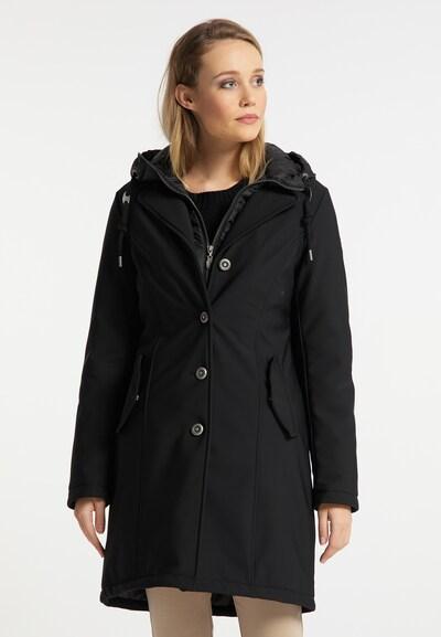 DreiMaster Klassik Manteau d'hiver en noir, Vue avec modèle