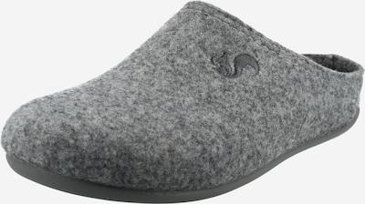 thies Pantoufle en gris chiné, Vue avec produit