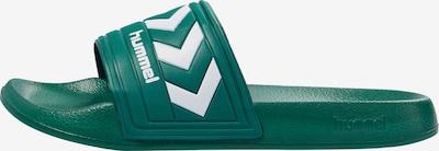 Hummel Strand-/badschoen in de kleur Grasgroen / Wit, Productweergave
