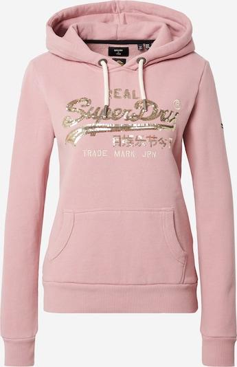 Superdry Sweatshirt in creme / gold / pink, Produktansicht