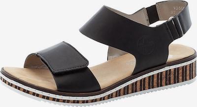 RIEKER Sandaler med rem i sort, Produktvisning