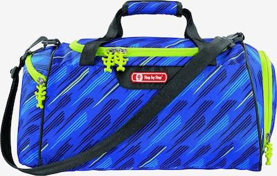 STEP BY STEP Sporttasche in blau / neongrün / schwarz / weiß, Produktansicht